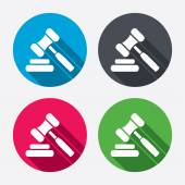 Auction hammer icons — Vector de stock