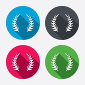 Laurel Wreath sign icons — Stock Vector