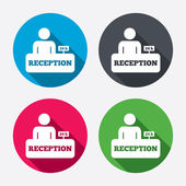 Reception sign icons — Stock Vector