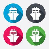 Fartyg eller båt ikoner — Stockvektor