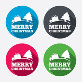 Merry christmas gift sign icons — ストックベクタ