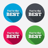 You are the best icons — Stock Vector