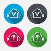 Smart home sign icons — Stock Vector