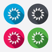 Wreath of leaves sign icons — Stock Vector