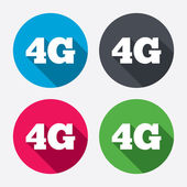 Mobile 4G sign. — Stockvektor