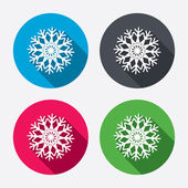 Snowflake artistic signs icons — Stock Vector