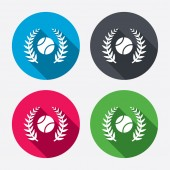 Tennis ball sign icons. Sport symbols. — Vector de stock