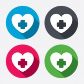 Medical heart sign icons — Stock Vector