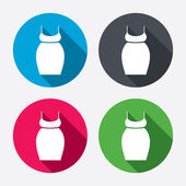 Pregnant woman dress sign icons — 图库矢量图片