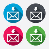 Mail receive icons — Stock Vector