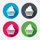 Muffin sign icons — Stock Vector