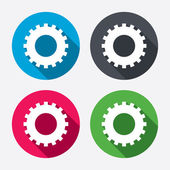 Cog settings sign icons — Stock Vector