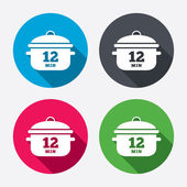 Boil 12 minute icons — Stock Vector