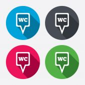 WC Toilet sign icons — Stock Vector