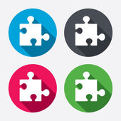 Puzzle piece sign icons — Stock Vector