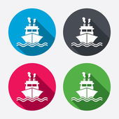 Ship or boat sign icons — Stockvektor