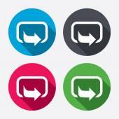 Iconos de signo de acción — Vector de stock