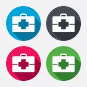 Medical case sign icons — Vetorial Stock