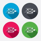 Mail delivery icons — Stock Vector