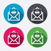 Mail print icons — Stock Vector