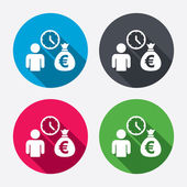 Bank loans sign icons — Vector de stock