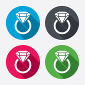 Jewelry sign icons — Vector de stock