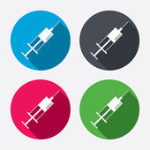 Syringe sign icons — Vettoriale Stock