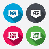 Low fat sign icons — Stock Vector