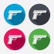 Gun sign icons — Stock Vector #60584783