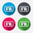 Постер, плакат: French language sign icons