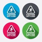 Caution wet floor icons — Stock Vector #60585809