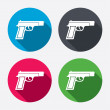 Gun sign icons — Stock Vector #60585947
