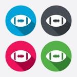 American football  icons — Stock Vector #60586069