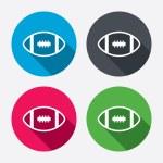 American football  icons — Stock Vector #60586643