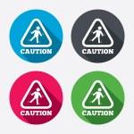 Caution wet floor icons — Stock Vector #60586847