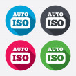 ISO Auto photo camera signs — Stock Vector #60587097