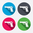 Gun sign icons — Stock Vector #60588001