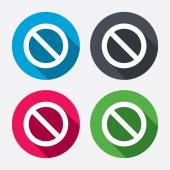 Blacklist sign icons — Stock Vector