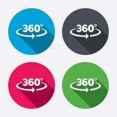 Angle 360 degrees icons — Stock Vector