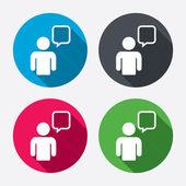 Chat sign icons — Stockvektor