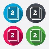 в пакете 2 листовых знака — Cтоковый вектор