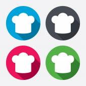 Chef hat sign icons — Stock Vector