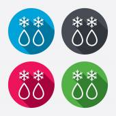 Defrosting sign icons — Stock Vector