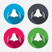 Alarm bell sign icons — Stock Vector