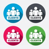 Clients sign icons — Stock Vector