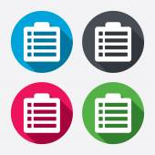Checklist sign icons — Wektor stockowy