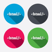 HTML sign icons — Stock Vector