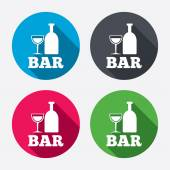 Bar or Pub sign icons — Vettoriale Stock