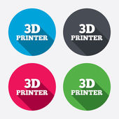 3D Print sign icons — Stock Vector