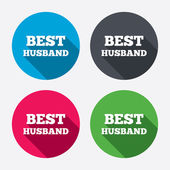 Best husband signs — Stock Vector